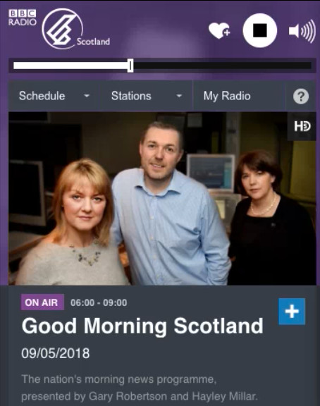 BBC Radio Scotland feature