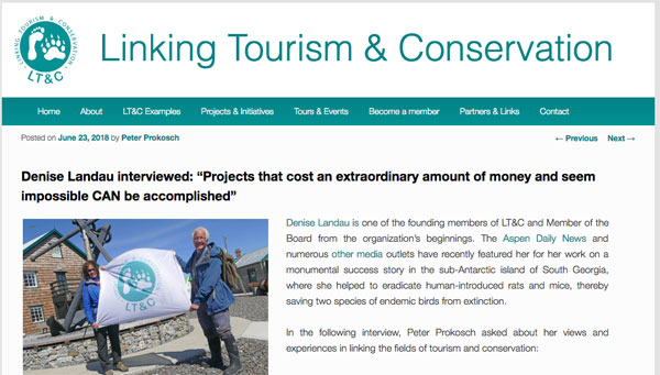 LT&C (Linking Tourism & Conservation) interview with Denise Landau