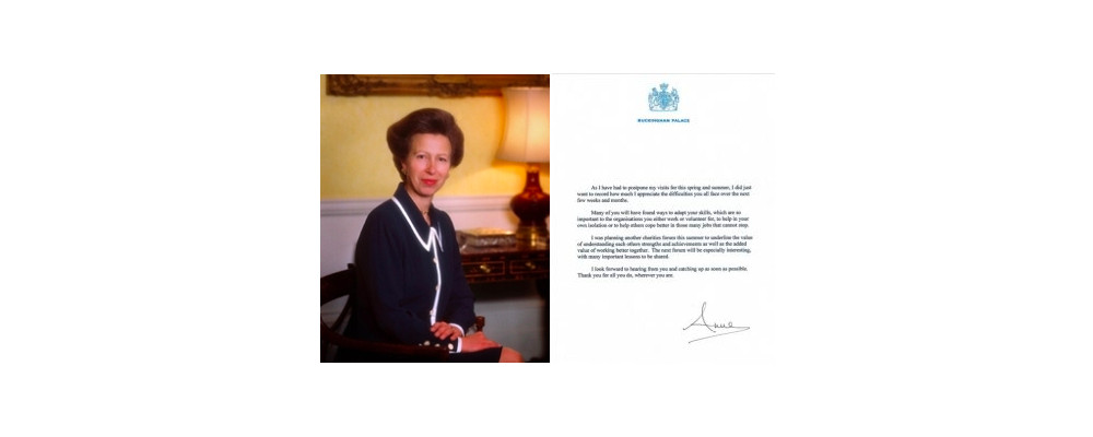 Message from our patron HRH The Princess Royal
