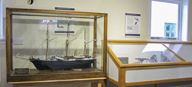 Endurance model displayed in South Georgia museum